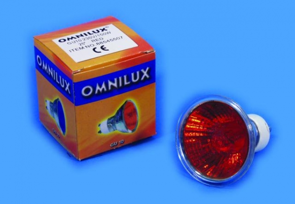 OMNILUX GU-10 230V/50W 1500h 25° rot