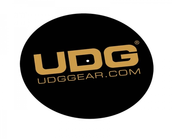 UDG Slipmat Set Schwarz/Golden (U9935) (Paar)