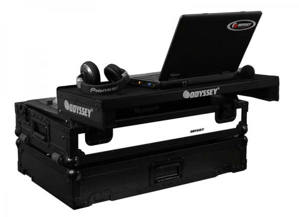 Odyssey DJ Controller Case Mixdeck Glide Black LED Flightcase (FFXGSMIXDECKBL)