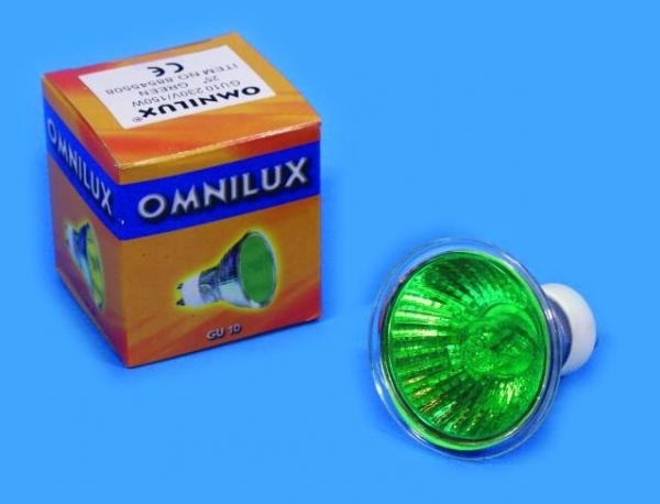 OMNILUX GU-10 230V/50W 1500h 25° grün
