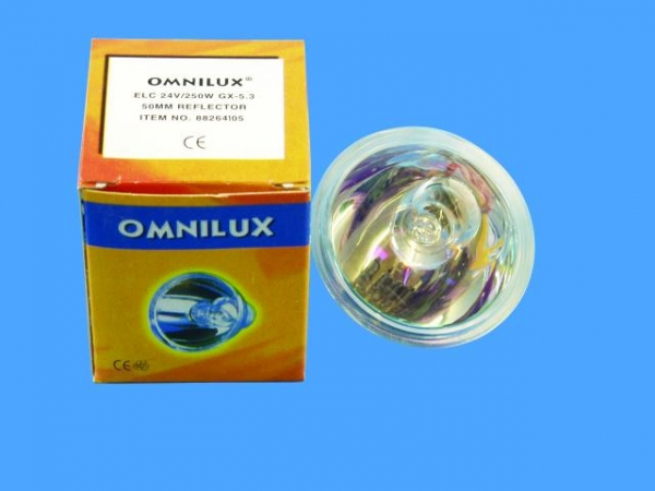 OMNILUX ELC 24V/250W GX-5,3 500h 50mm Ref