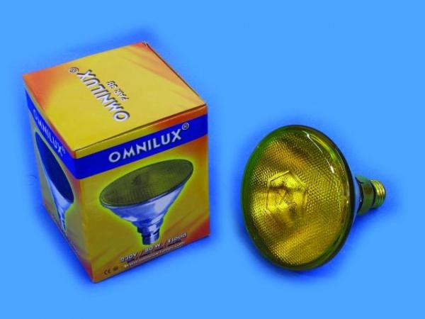 OMNILUX PAR-38 230V/80W E-27 FL gelb