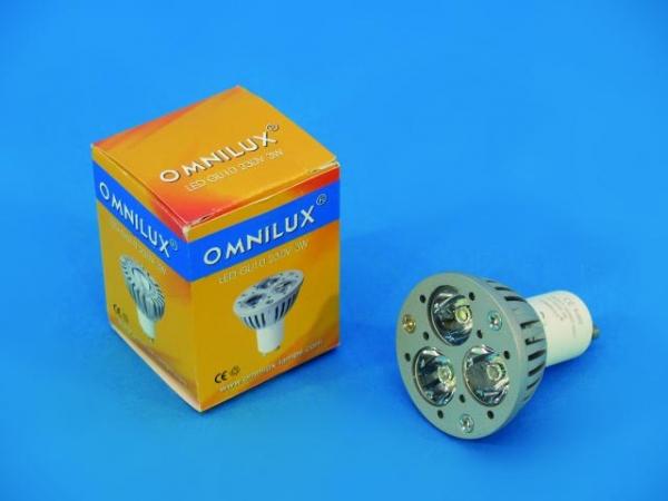 OMNILUX GU-10 230V 3x1W LED gelb 30° KR