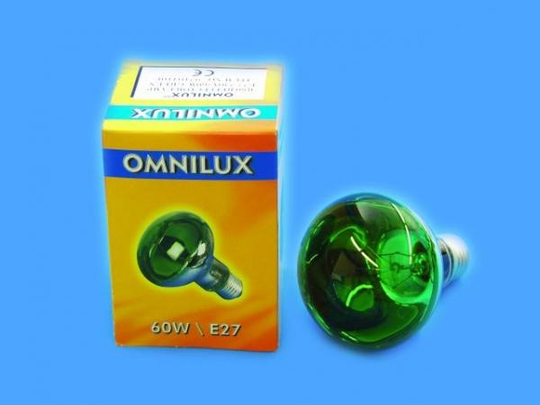 OMNILUX R80 230V/60W E-27 grün