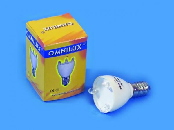 OMNILUX LED Lampe 230V E14 3 Dioden weiß