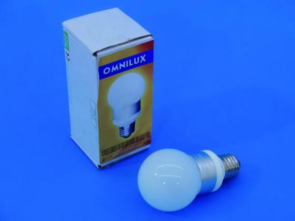 OMNILUX LED G60 230V 1W E27 3000K