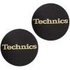 Technics Slipmat Schwarz / Gold Logo (Paar)