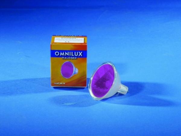 OMNILUX MR-16 12V/50W GX-5.3 SP violett