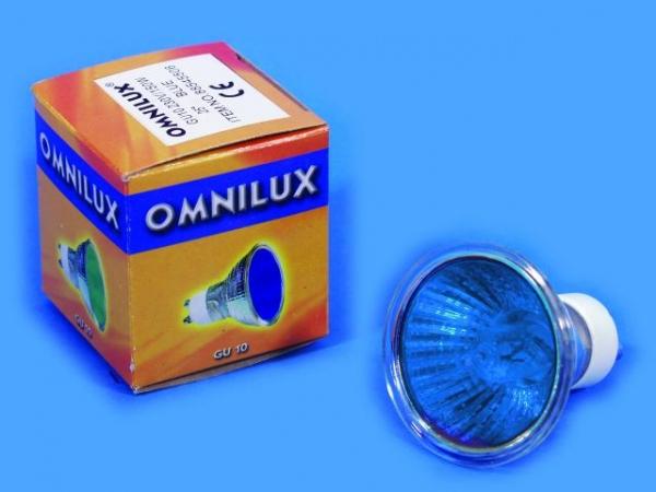 OMNILUX GU-10 230V/50W 1500h 25° blau