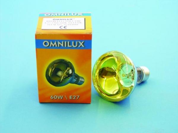 OMNILUX R80 230V/60W E-27 gelb