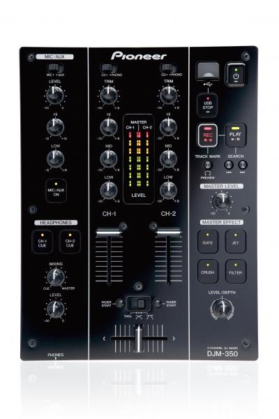 Pioneer DJM-350-K schwarz 2-Kanal-Effekt-Mischpult B-WARE