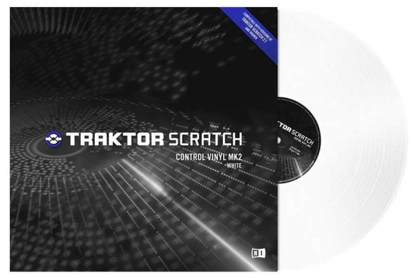 Native Instruments TRAKTOR Scratch Control Vinyl Weiss MK2