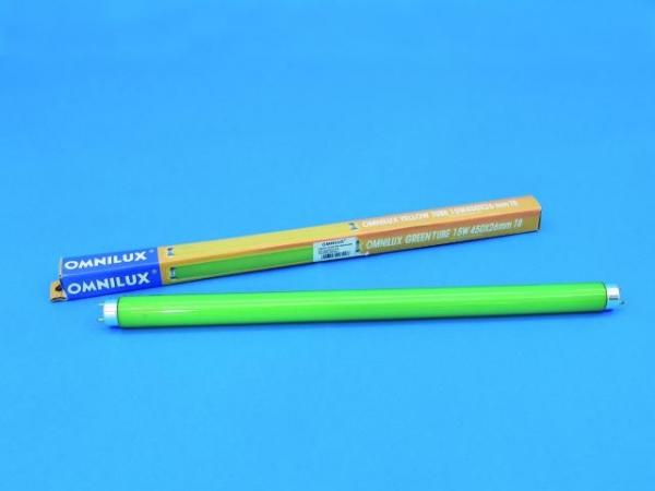 OMNILUX Röhre 15W 450x26mm Farbglas grün