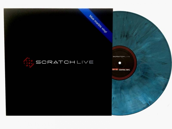 Serato Control Vinyl marble-blue
