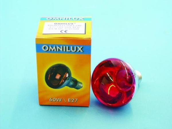 OMNILUX R80 230V/60W E-27 rot