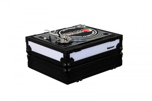 Odyssey DJ Plattenspieler Case Links Schwarz LED (FFX2LBM1200BL)