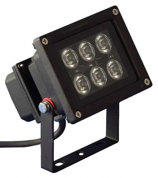 Pro Tech LED Outdoor Spot 6 x 1W weiss