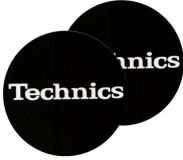 Technics Slipmat Black/White Logo (Paar)