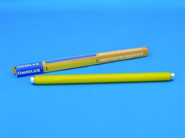 OMNILUX Röhre 15W 450x26mm Farbglas gelb