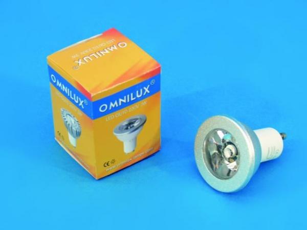 OMNILUX GU-10 230V 3W LED blau