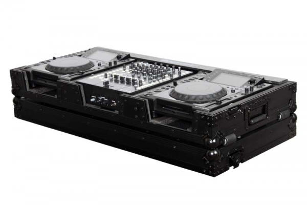 Odyssey DJ Set Case 12 / Player Large Black LED Flightcase (FFX12CDJWBL)