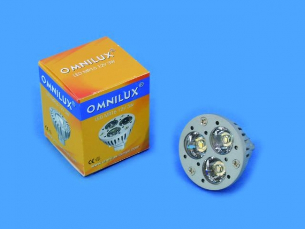 OMNILUX MR-16 12V GU5.3 3x1W LED rot KR